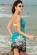Plážové pareo s květinovým vzorem modré P-112-3