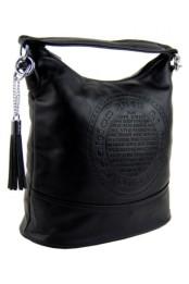 Elegantni mensi crossbody kabelka do ruky i pres rameno cerna K-106-1
