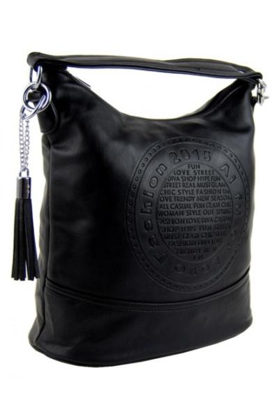 33cbee5aa Elegantní menší crossbody kabelka do ruky i přes rameno černá | Amodio
