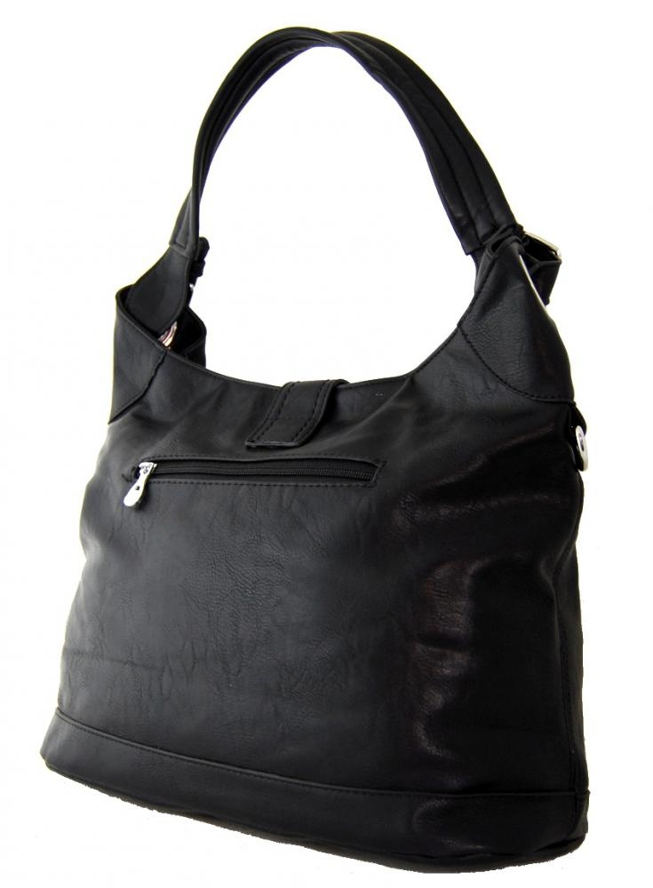 Stredne velka moderni kabelka na rameno i do ruky cerna K-104-2 a26e7e55cc