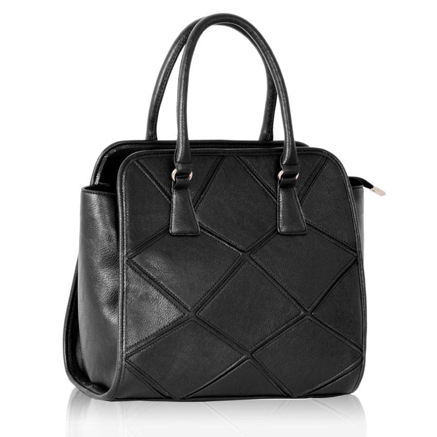 cerna kabelka do ruky s modernim plastickym vzorem na predni casti K-116-1  ... 20795cd07e