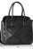 cerna kabelka do ruky s modernim plastickym vzorem na predni casti K-116-4