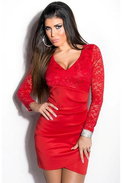 Červené šaty 2019   výrazné šaty pro výrazné osobnosti - skladem 41e1f8a05b6