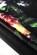 Elegantni koktejlove saty bez rukavu s potiskem kvetu- tmave S-273-BK (5)