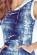 Lehke denni saty s kapuci volnejsiho strihu, riflovy vzhled, modre S-286-BE (5)