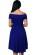 Kratke spolecenske saty se skladanou sukni a odhalenymi rameny, modre S-272-BE (4)
