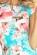 Kratsi letni spolecenske saty s malymi rukavy, blede modra + ruzove kvety S-306-BE-PK (5)