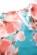 Kratsi letni spolecenske saty s malymi rukavy, blede modra + ruzove kvety S-306-BE-PK (7)