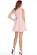 Luxusni kratke spolecenske saty s rasenou sukni, delka nad kolena, ruzove S-308-PK (2)