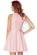 Luxusni kratke spolecenske saty s rasenou sukni, delka nad kolena, ruzove S-308-PK (3)