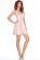Luxusni kratke spolecenske saty s rasenou sukni, delka nad kolena, ruzove S-308-PK (4)