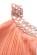 Kratke princeznovske saty ke kolenum s volnou sukni- staroruzove S-278-PK (6)