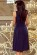 Luxusni spolecenske saty po kolena s volnou sukni, tmave modre S-312-BE (4)