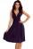 Luxusni spolecenske saty po kolena s volnou sukni, tmave modre S-312-BE (5)