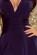 Luxusni spolecenske saty po kolena s volnou sukni, tmave modre S-312-BE (6)