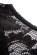Spolecenske pouzdrove saty nad kolena s krajkovou horni casti – cerne S-318-BK (10)