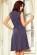 Bavlnene kratke retro saty s volnou sukni po kolena, tmave modre s puntiky S-326-BE (4)