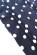 Bavlnene kratke retro saty s volnou sukni po kolena, tmave modre s puntiky S-326-BE (7)