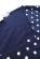 Bavlnene kratke retro saty s volnou sukni po kolena, tmave modre s puntiky S-326-BE (8)