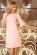 Elegantni letni spolecenske saty ackoveho strihu, 34 rukavy, svetle ruzove S-327-PK (1)