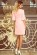 Elegantni letni spolecenske saty ackoveho strihu, 34 rukavy, svetle ruzove S-327-PK (2)