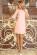 Elegantni letni spolecenske saty ackoveho strihu, 34 rukavy, svetle ruzove S-327-PK (3)