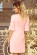 Elegantni letni spolecenske saty ackoveho strihu, 34 rukavy, svetle ruzove S-327-PK (4)