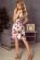 Kvetovane letni spolecenske saty s volnou sukni nad kolena – barevne S-324-Multi (2)