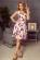 Kvetovane letni spolecenske saty s volnou sukni nad kolena – barevne S-324-Multi (3)