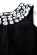 Elegantni kratke spolecenske saty nad kolena, s rasenou sukni, cerne S-278-BK (6)