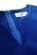 Kratsi saty z mekkeho materialu se sterbinou ve vystrihu a malymi rukavy, modre S-309-BE (8)