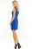Elegantni kratke damske saty, volnejsi strih, svetle modre S-297-LBE (2)