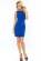 Elegantni kratke damske saty, volnejsi strih, svetle modre S-297-LBE (3)