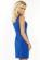 Elegantni kratke damske saty, volnejsi strih, svetle modre S-297-LBE (4)