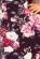 Letni spolecenske saty s volnou spodni casti a trictvrtecnimi rukavy, cerna + kvetiny S-340-Multi (2)