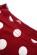 Sportovni saty se stahovanim v pase a rukavy, tmave cervena + puntiky S-339-RD (8)